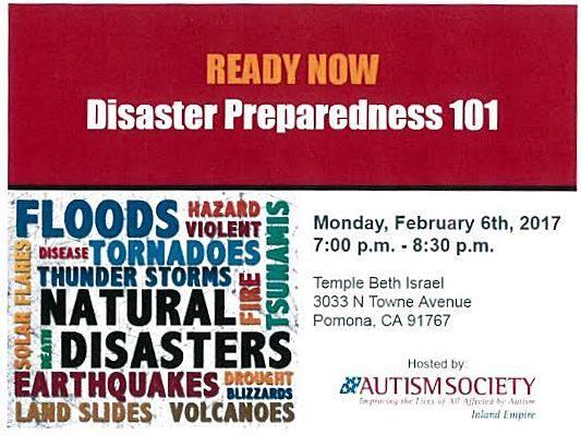 Disaster Preparedness 101