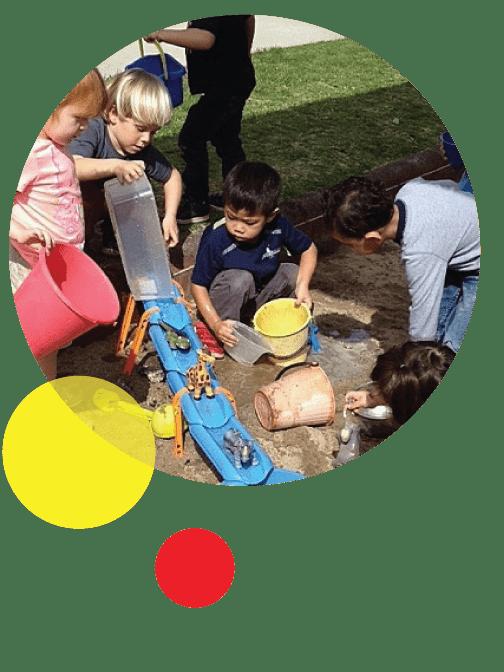 Outdoor play at TBI Preschool